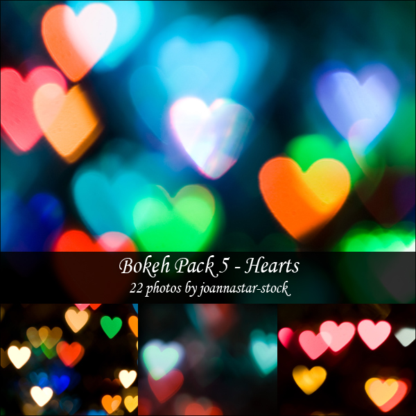 Bokeh Pack 5 by joannastar stock valentines day backgrounds