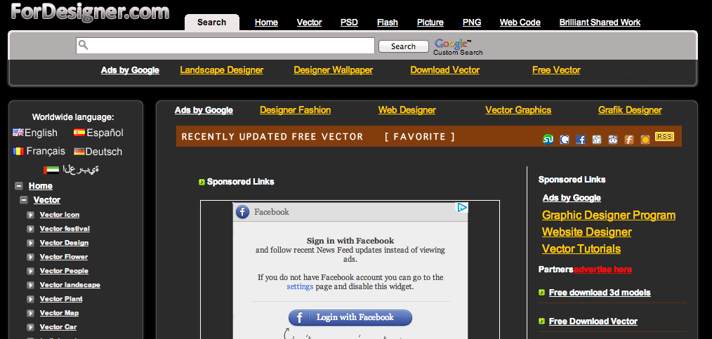 Screen Shot 2012 11 22 at 2.39.23 PM Freebie Friday: 4 great websites for free vectors