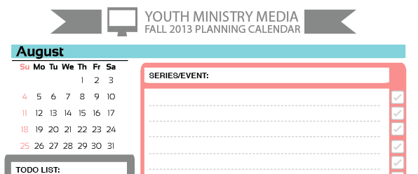 Free august planning calendar youth ministry media maxwellsz