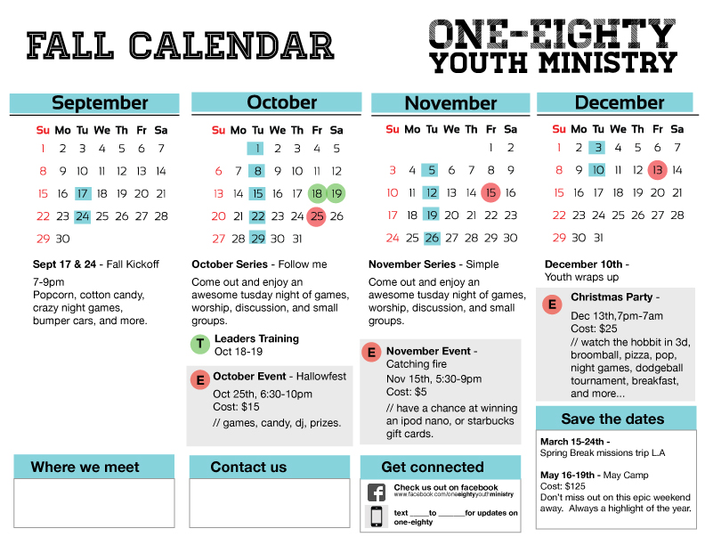 Oofilecloud blog for Youth group calendar template