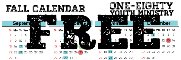 Freebie friday free fall youth ministry calendar youth for Youth group calendar template