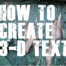 How to Create 3-D Text