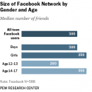 Teens Number of Facebook Friends [infographic]